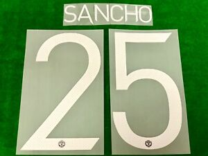 OFFICIAL PLAYER ISSUE SANCHO #25 Manchester United FC Home UCL CUP 2021-22 PRINT