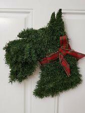 Handmade Scottish Terrier Christmas Wreath Scottie Dog Scotty Puppy (head bust)