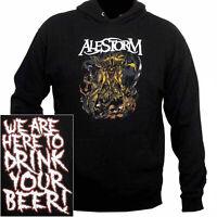 Alestorm Here To Drink Your Beer Hoodie S-XXL Hooded Sweatshirt Metal Band Hoody
