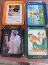 Vintage Lot of 4 Advertising Trays,  2~Coca Cola, Land O' Lakes and Ford