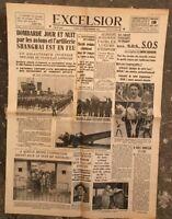 N161 La Une Du Journal Excelsior 18 Aout 1937