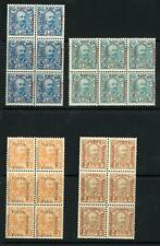 Montenegro 1905 Selection of MNH Blocks of 6 (4 blocks)