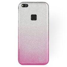 COVER Custodia Glitter GRADIENTE Morbida Silicone GEL per Huawei P10 LITE Rosa