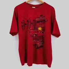 Vintage Plymouth HEMI ROADRUNNER T Shirt Size XL Red Graphic 69 70 71 Muscle Car