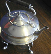 antique  silver plate TEA POT SPIRIT KETTLE