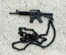 M-16 Rifle METAL Pendant US NAVY SEAL TEAM 6  SNIPER HAT PIN PU USS SPECIAL OPS