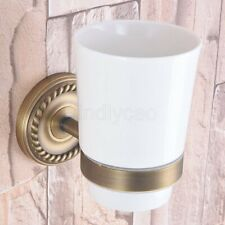 Wall Mount Antique Brass Bathroom Accessories Toothbrush Holder Tooth cup holder