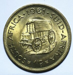 1961 South Africa One 1 Cent 1st decimal series - Lot 2091