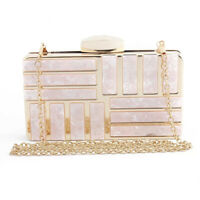 Women Shoulder Bag Lady Purse Evening Party Prom Chain Box Clutch Pink Birthday