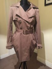 Next Signature Light Brown Trench Coat Spring Double Breast Size 14 Petite