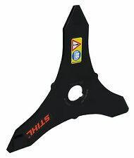 "Genuine STIHL 3 Tooth Brush Metal Strimmer Blade 250mm (10"")  4112 713 4100"
