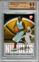 2003 Topps Pristine Refractor Carmelo Anthony BGS 9.5 Gem Mint