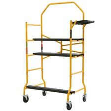 MetalTech Rolling Scaffold 5 ft. x 4 ft. x 2-1/2 ft. 900 lbs. Load Capacity