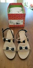 New Tory Burch Kailey Patent Calf Buckle Bow Sandals- Women's Size 6.5