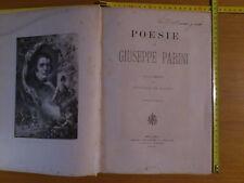 POESIE di Giuseppe Parini, commento G.De Castro, ILL. 50 inc., Carrara, 1882