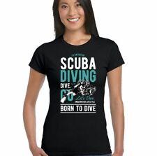 I'd Rather Be Scuba Diving Womens Funny T-Shirt Deep Sea Ocean Equipment Snorkel