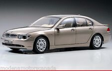 2003 BMW 745i SEDAN BEIGE PEWTER METALLIC (E65) BY KYOSHO 1:18 RARE OLD RELEASE