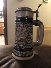 "Avon 1983 Handcrafted In Brazil ""Rainbow Trout & English Setter"" Mini Beer Stein"