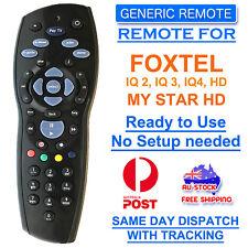 FOXTEL REMOTE Control Replacement For FOXTEL MYSTAR HD & PAYTVS BLACK