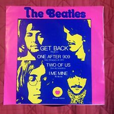 The Beatles- 45 -Mexican EP-Get Back Not TMOQ TAKRL RARE epem-10599 Apple