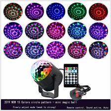 LED Magic Ball Stage Light Club RGB Sound Active Disco Party DJ Decor Remote new