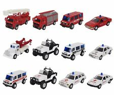 Emergency Vehicle Car Van Jeep Firetruck Police Ambulance Rescue Diecast Toy New