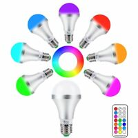 Remote Controlled 10W (75W) LED Colour Changing Screw in E27 Light Bulb Bulbs