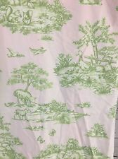 Pottery Barn Kids 2 Lined Curtains Girls Pink Green French Country Toile + Check
