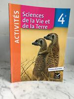 Sciences Della Vita E Della Terra 4e Hatier 2014