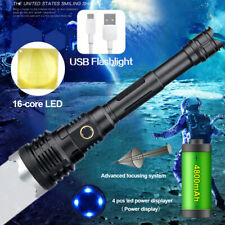 Tactical LED Light Predator USB Rechargeable Zoom 5mode XHP110 Flashlight Torch