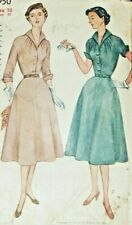 Vintage Simplicity 3950 Sewing Pattern Dress Pattern Complete Cut Size 16 1952