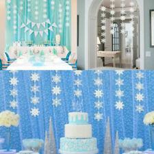 Birthday Decorations Christmas Hanging White Party Snowflake Winter Wonderland