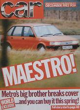CAR 12/1982 featuring Maserat Biturbo, Renault 5 Turbo, MG, Mazda, Colt, Rover