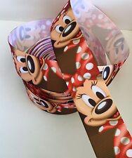 Yard Disney Minnie Mouse Moños De Cinta de Grogrén caras personaje #6