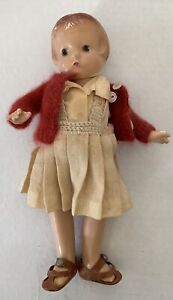 "EFFENBEE PATSY Patsyette Composition 9.5"" Doll Dress Shoes Vintage"