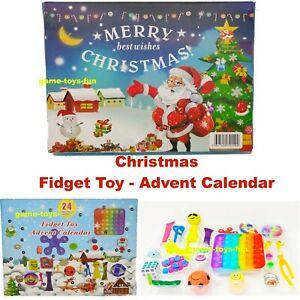 🎄 NEW ADVENT CALENDAR FIDGET TOY ACTIVITY SET XMAS GIFT KIDS FUN CHRISTMAS 🎄