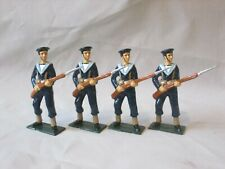 UNKNOWN MAKE NAVAL INFANTRY X4 54MM BEAUTIFULLY PAINTED