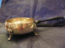 Cassolette Quadripode en Argent Plaqué Silver Silber Manche en Bois Louis XV