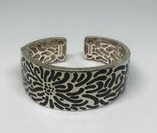 AC STUDIO Angela Cummings Enamel Sterling Silver Statement Bracelet Cuff