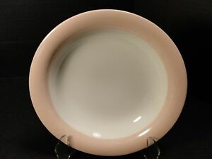 Homer Laughlin Eggshell Swing Organdy Pink Soup Bowl RARE