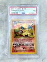 Charizard Holo Pokemon Card English Unlimited Base Set 4/102 Near Mint BGS PSA 7