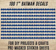 "BATMAN VINYL DECAL 100 STICKERS SHEET DIY PROJECT CRAFTS Flashlight 1"" Decals"