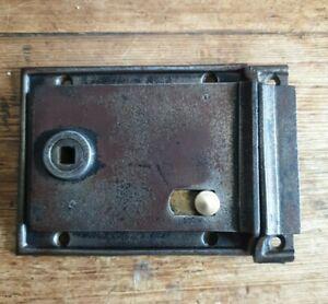 Salvaged Victorian Cast Iron Privacy/ Bathroom Rim Lock with Original Keep VGC
