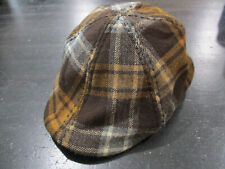Woolrich Cabbie Hat Cap Brown Plaid Mens Size Small 100% Wool Golf Casual
