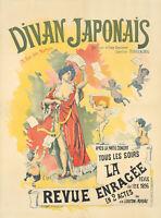 Original Vintage Poster French Divan Japonais Theatre Nude Cherubs 1896