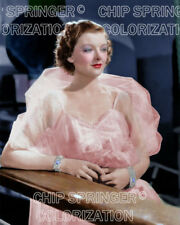 MYRNA LOY  Leaning on Rail   Beautiful 8x10 COLOR PHOTO by CHIP SPRINGER
