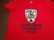 Atlanta Concorde Fire Soccer   Nike Dri Fit Red  T Shirt  Womens Large   L1