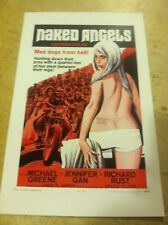 Vintage Naked Angels Motorcycle Movie Poster Home Decor Art Christmas Present