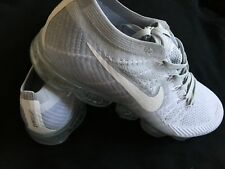 Nike Air VaporMax Flyknit Pure Platinum Wolf Grey 849558-004 Size 9