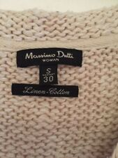 Ladies Knitted Gillet Linen-Cotton Blend By Massimo Dutti Designer Size S